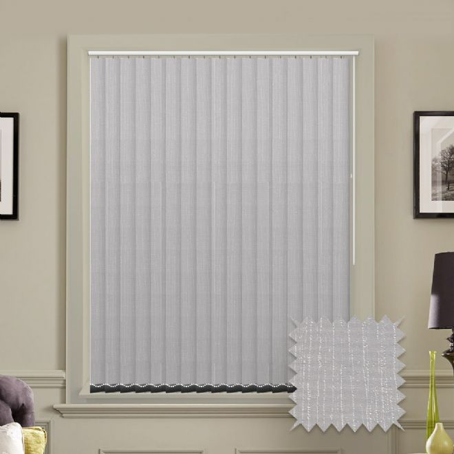 Made to Measure Tree Bark Ash Vertical Blind Grey Pattern - Just Blinds